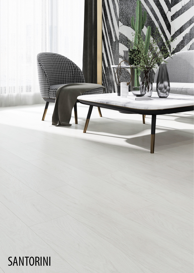 luxury vinyl flooring White Santorini